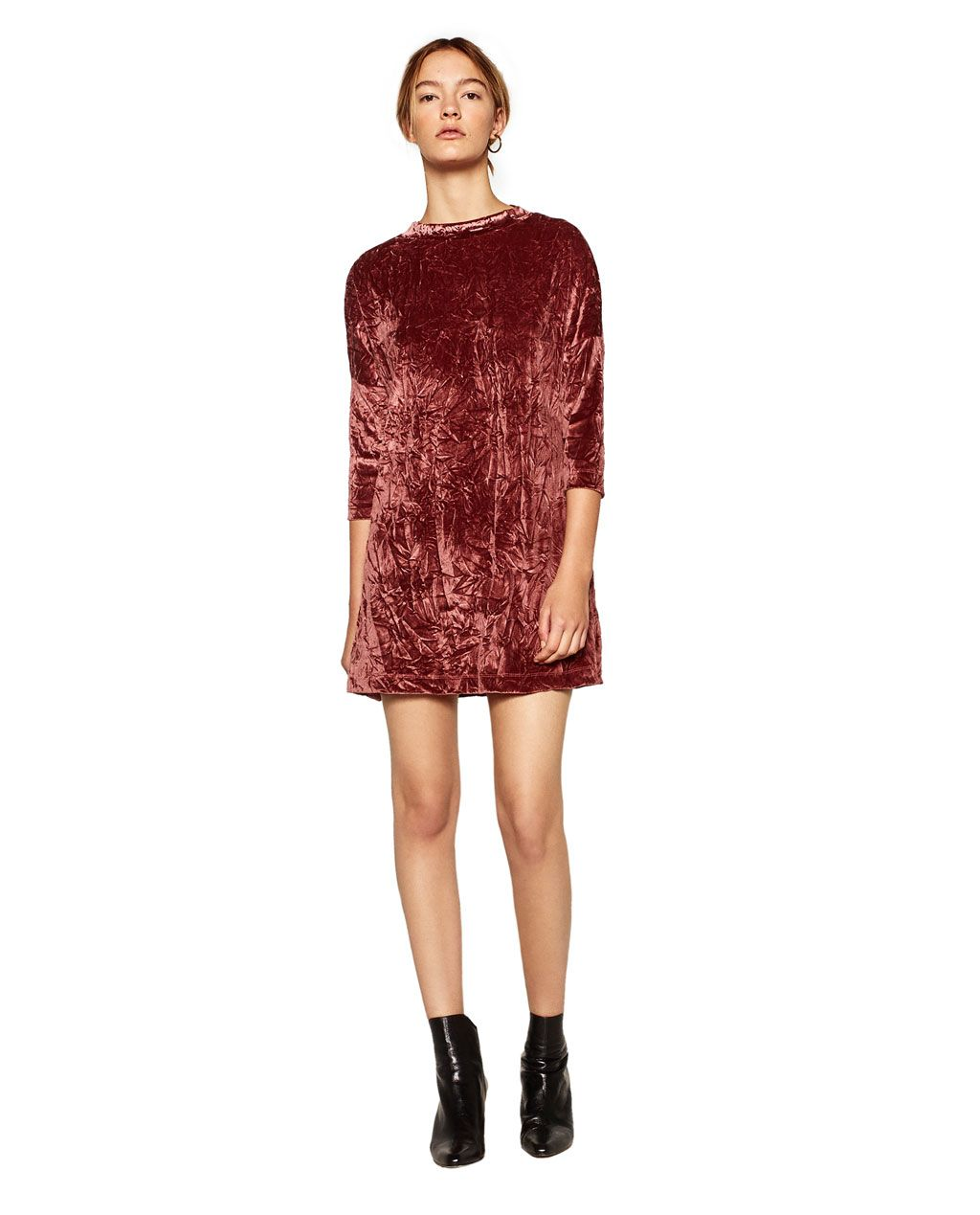 VELVET DRESS-DRESSES-WOMAN | ZARA Costa Rica | Vestidos de ...