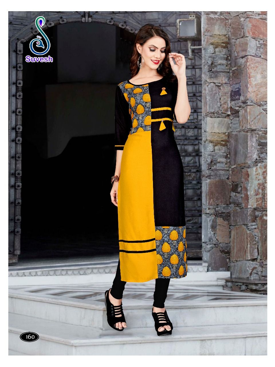 ee45caa5c0 Suvesh Natasha Vol 11 Kurti Wholesale Catalog 8 Pcs in 2019 ...
