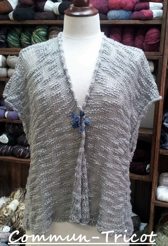 Quick And Easy Vest Knit With 2 Balls Of Opium By King Coleultra