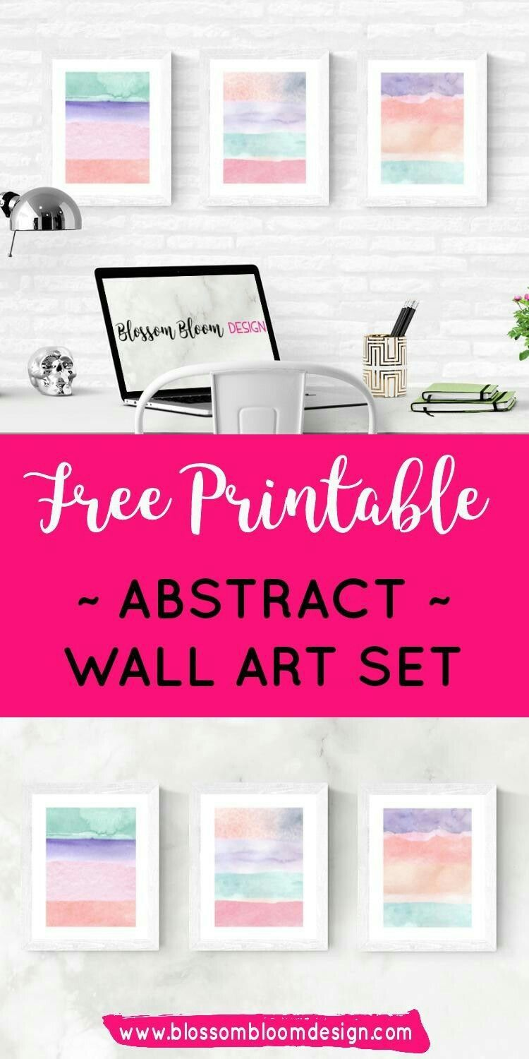 Free Printable Abstract Wall Art Set You Get A Set Of Three Coordination Wall Art Prints Featuring Paste Free Printable Wall Art Free Art Prints Free Wall Art