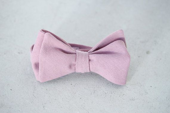 5d2cadf96b53 Dusty Rose Linen Wedding Bow Tie | Products | Bow tie wedding ...