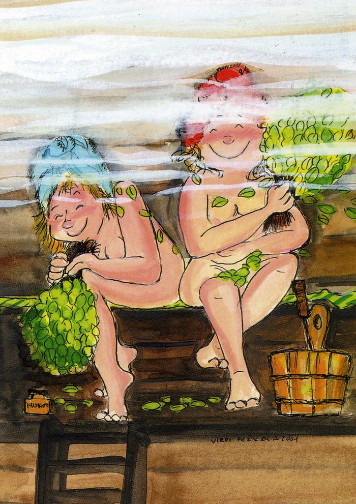 Бондаж две подруги после бани большими жопами