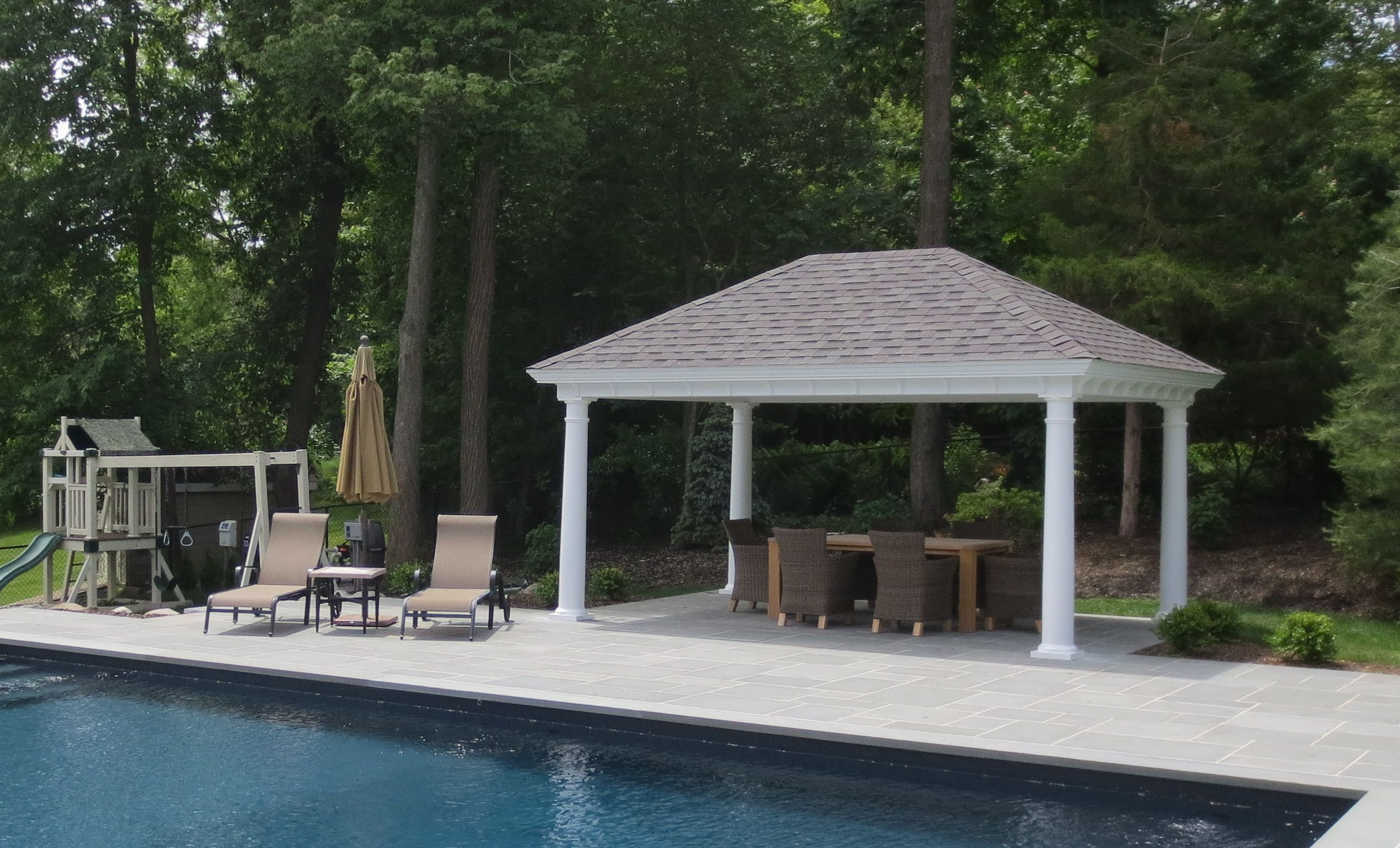 12 X 16 Vintage Poolside Pavilion Backyard Pavilion Outdoor Pavilion Backyard Gazebo