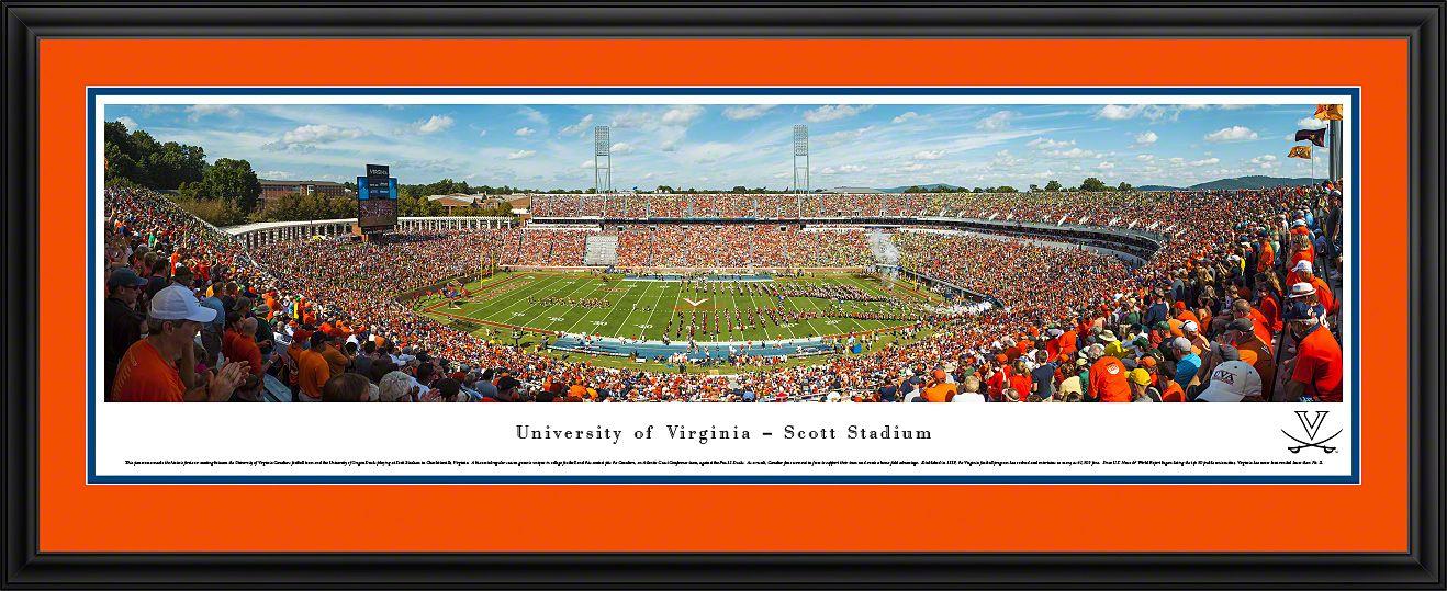 Virginia Cavaliers Football Panoramic Scott Stadium