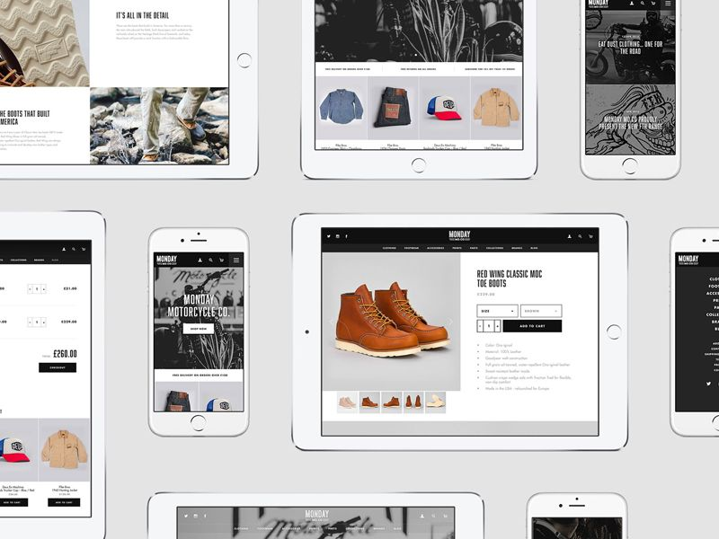 Monday Motorcycle Co. Shopify Site by Olly Sorsby #Design Popular #Dribbble #shots
