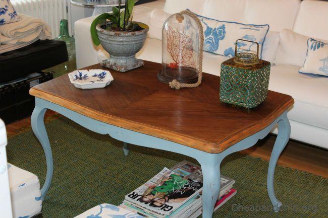 Mesa de centro restaurada en este post explica como for Como restaurar una mesa de madera
