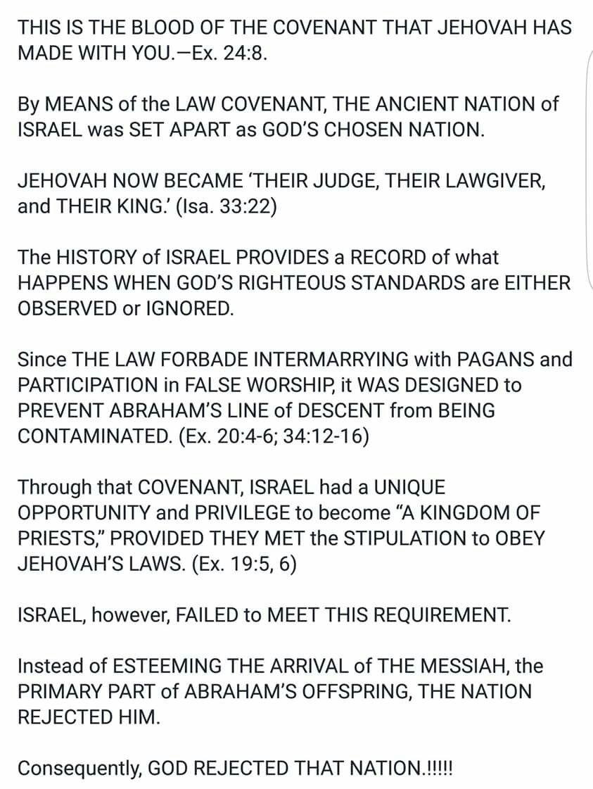 The truth. Exodus 24:8.