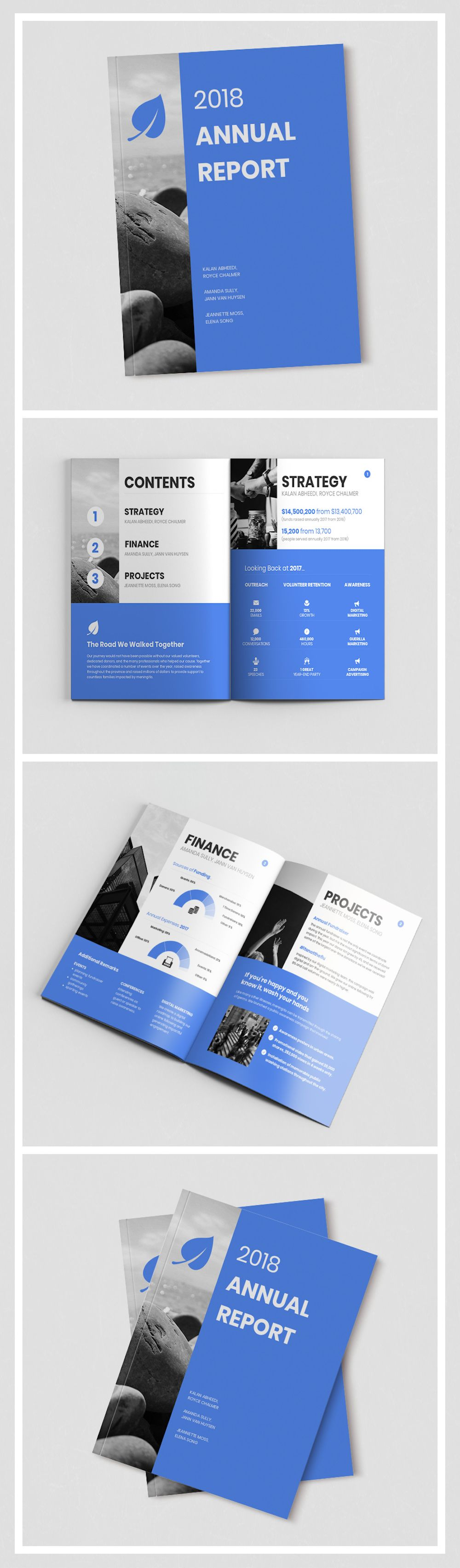 55+ Customizable Annual Report Design Templates, Examples & Tips #annualreports