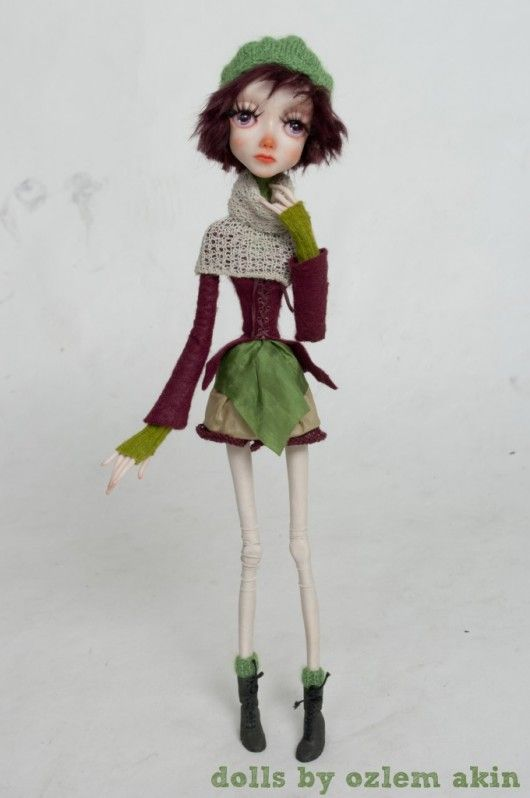Ivy: beautiful polymer clay doll