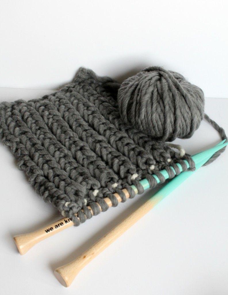 Fisherman\'s Rib Knitted Scarf Pattern - | Dos agujas, Puntadas y Tejido