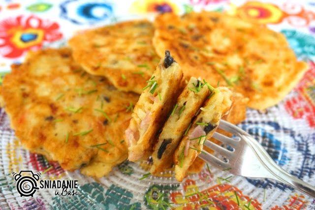 ...Pomysłowe i pyszne śniadania!: Placuszki naleśnikowe a'la pizza