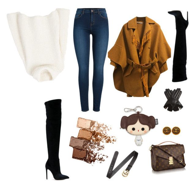 """""""warm"""" by walerie on Polyvore featuring Gianni Renzi, Pieces, MANGO, Ermanno Scervino, Gucci, AGNELLE, Loungefly, Chanel and Maybelline"""