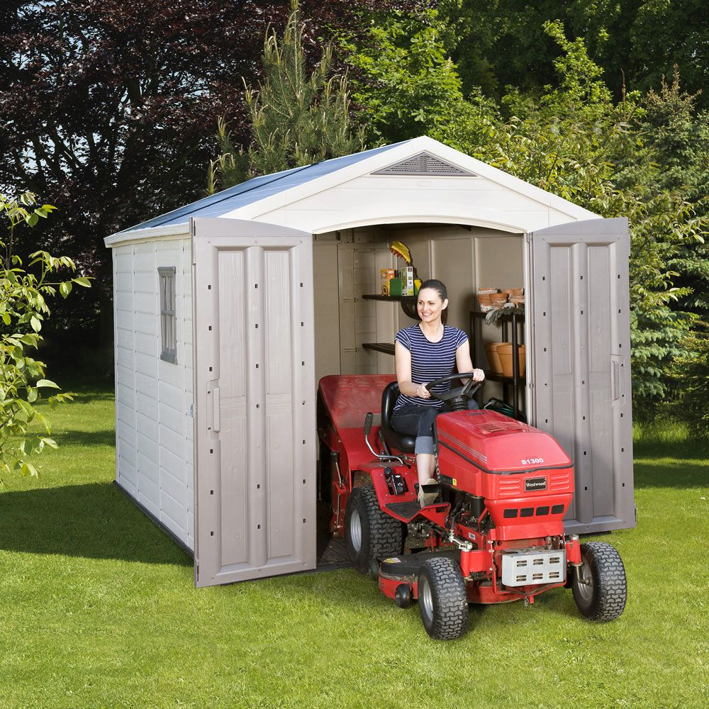 Costco uk keter factor 8 x 11ft shed garden for Garden shed for lawn mower