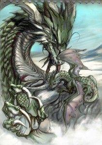 Framed Print Mother /& Baby Dragons Mythology Fantasy Picture Mythological