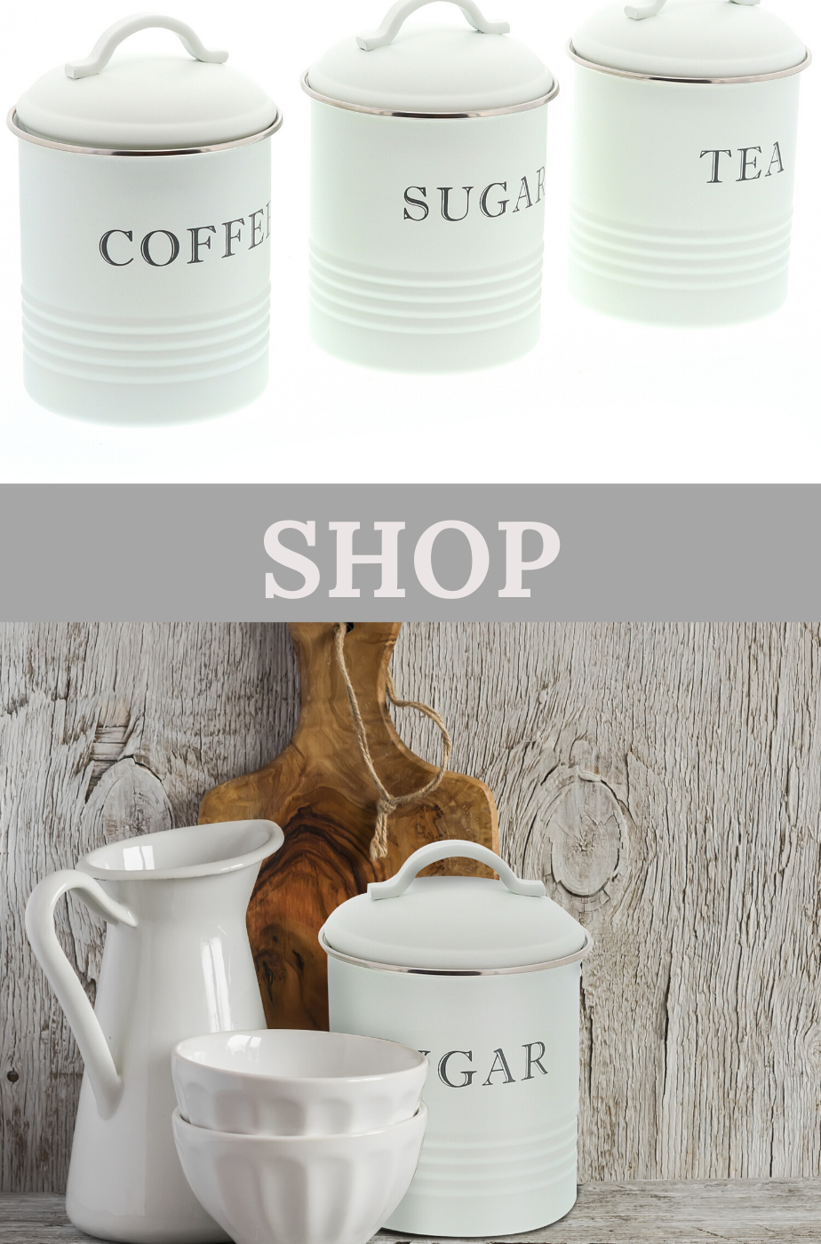 Kitchen Canisters With Airtight Lids Coffee Tea Sugar White Set Of 3 Kitchen Canisters Farmhouse Kitchen Canisters Rustic Canisters