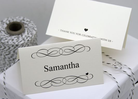 FREE DIY Printable Place Card Template and Tutorial - Polka Dot Bride : table place settings template - pezcame.com
