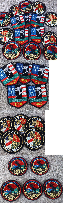 Ralph lauren polo black  logo badges