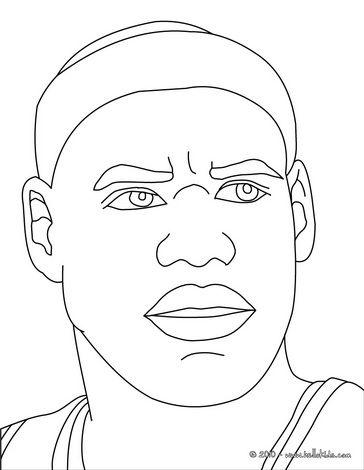 Lebron James Coloring Page Sports Coloring Pages Lebron James Pictures Silhouette Drawing