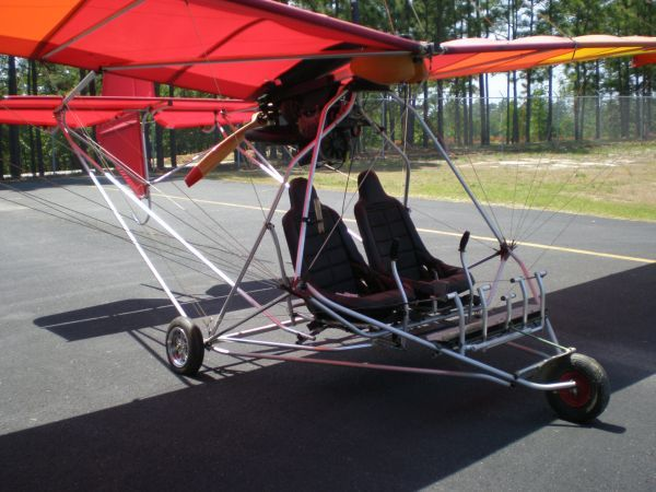 Wizard T-38 Ultralight aircraft 503 Rotax 2 seat, Hangared
