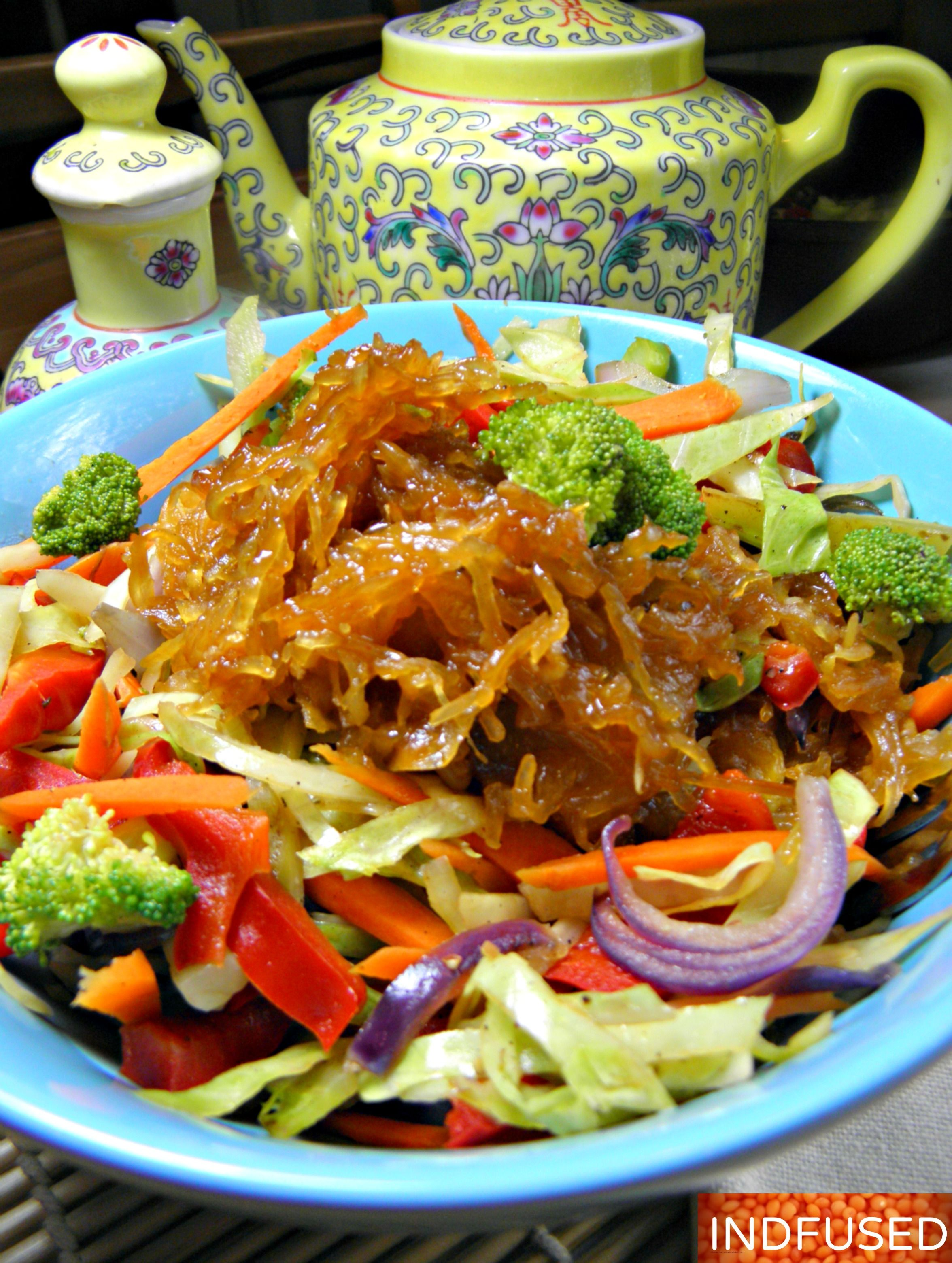 Spaghetti Squash Noodles In A Spicy Honey Hoisin Sauce Spaghetti Squash Noodles Hoisin Sauce Squash Noodles