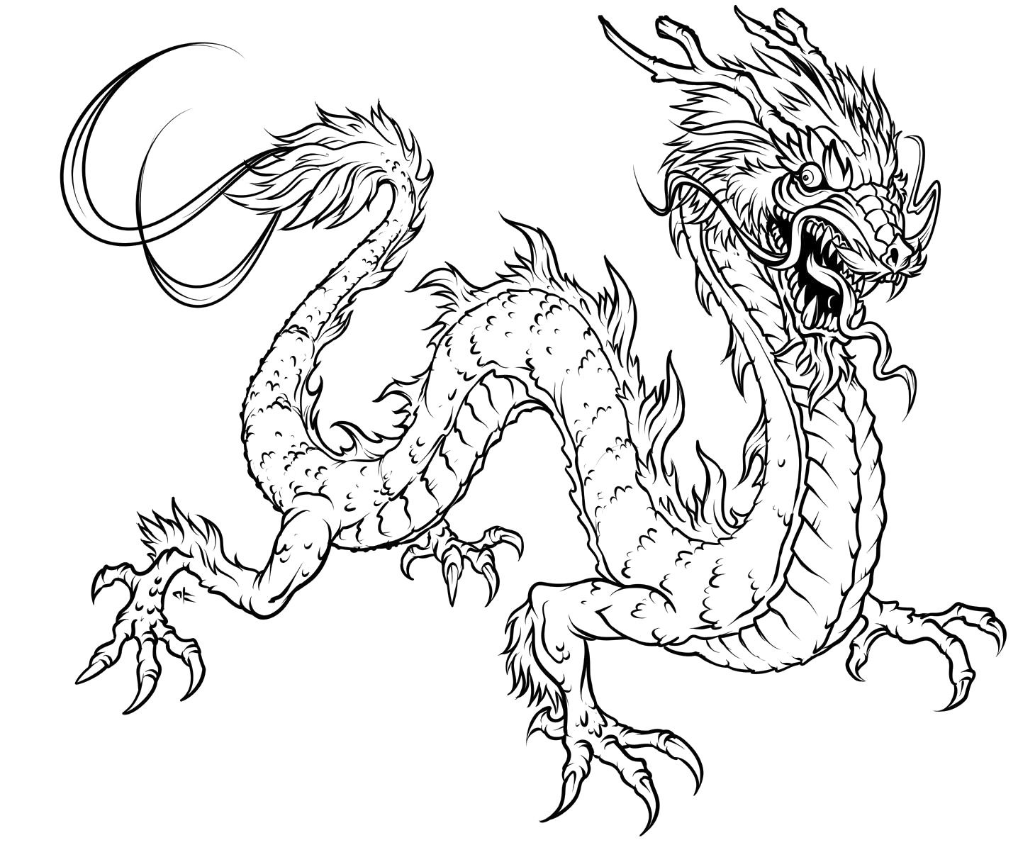 Dragon Coloring Pages | Images Colection Of Google | 1Adult ...