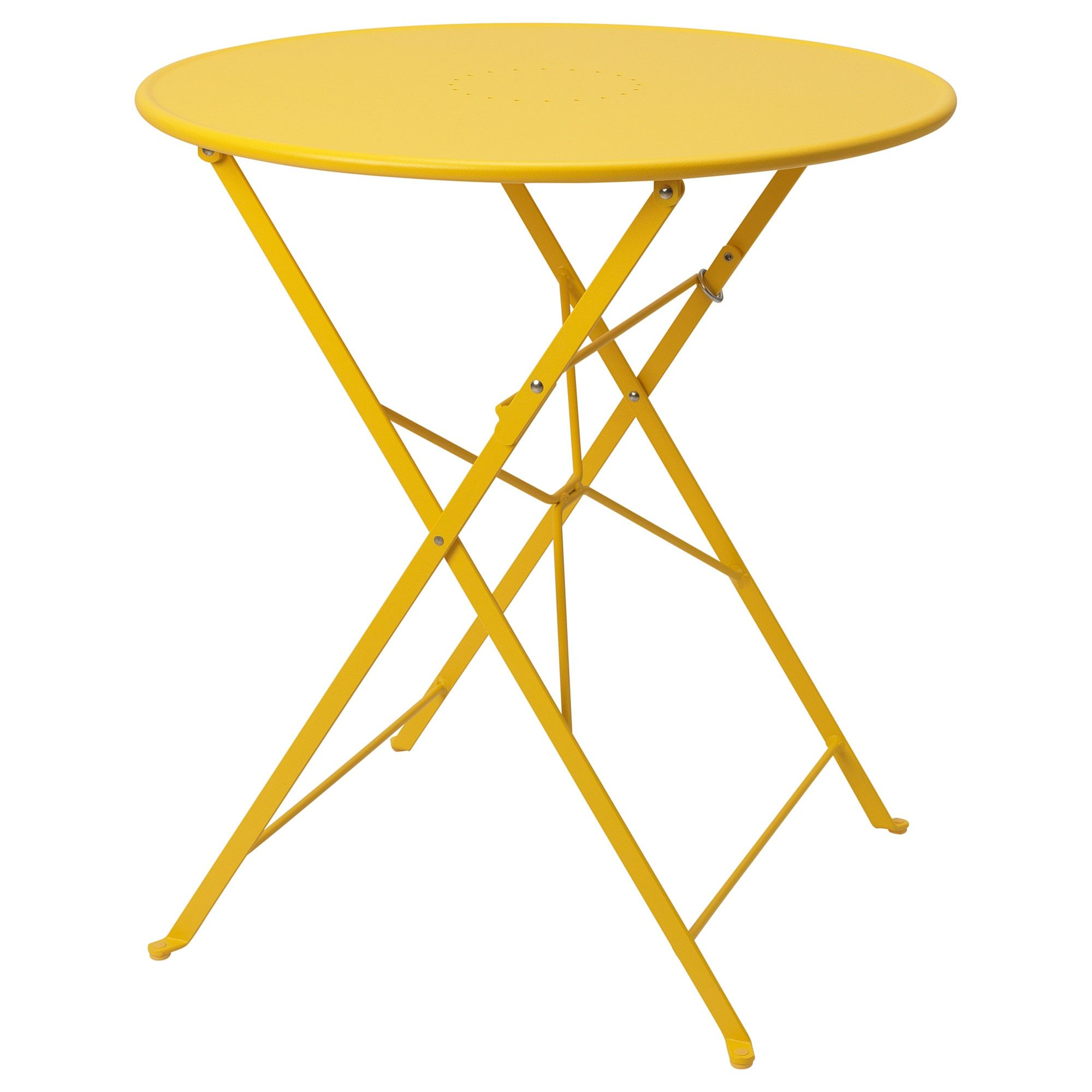 Table Outdoor Saltholmen Foldable Yellow Garden Table Outdoor Outdoor Tables
