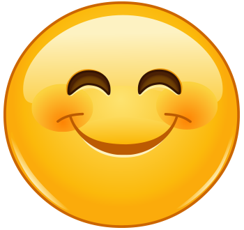 Big Grin Rosy Cheeks Symbols Emoticons In 2020 Emoji Happy Face Funny Emoticons Smiley