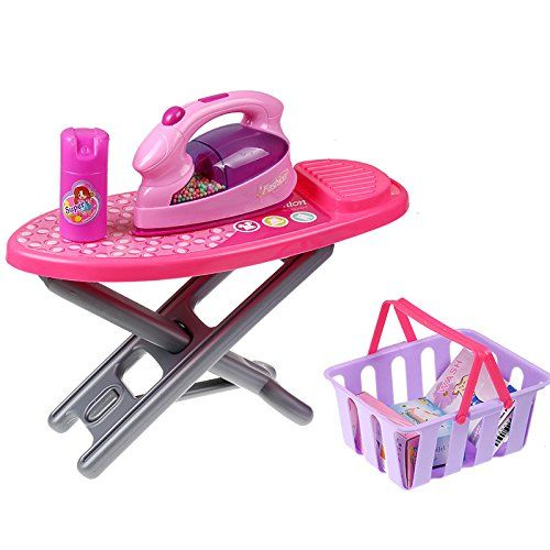Mini Family Washing Laundry Toy Set For Kids Includes A Washing