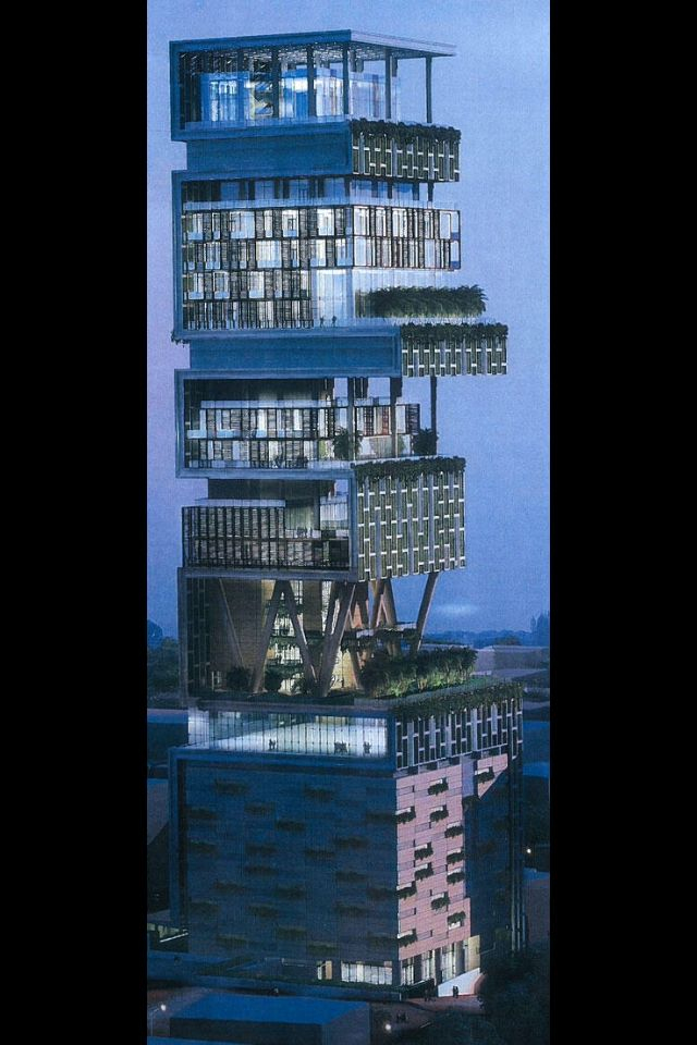 Indian billionaire  Mukesh Ambani has finished building his new home in  Mumbai  India costing to about 1 billion dollars  Yes the home has cost  Ambani 1  worlds first billion dollar home  antilia  india   WTF   Pinterest  . Post Modern Buildings In India. Home Design Ideas