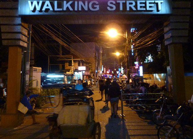 walking street angeles city philippines