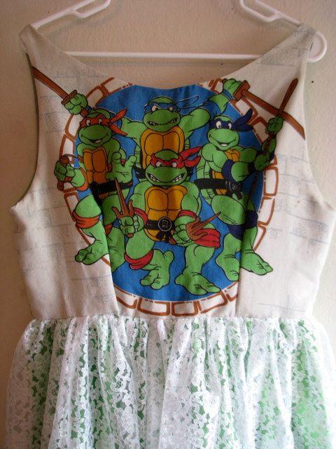 Teenage Mutant Ninja Turtles Backless Sundress by noslowjams