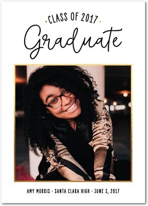 Show off that sass! Graduates get ready, these are announcements you don't want to pass up. Shop hundreds of graduation announcement designs today.