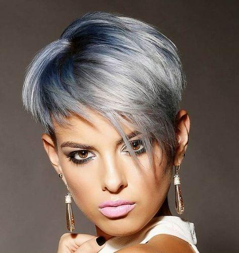 bist du noch am uberlegen ob du deine haare grau farben lassen solltest dann schau dir schnell diese coolen kurzhaarfrisuren in grautonen an