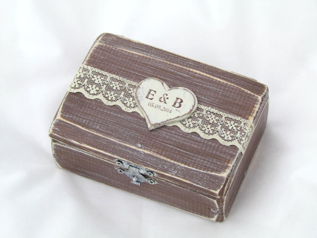 Gregolino ring box design wedding ring box in charming rustic