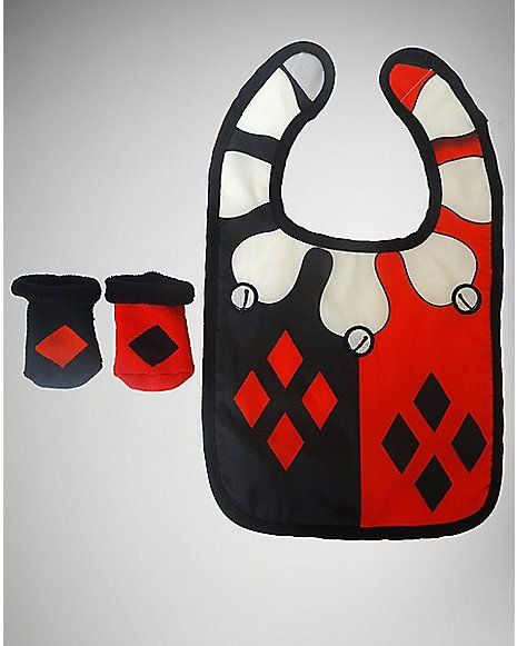 Harley Quinn Bib and Bootie Set - Spencer's