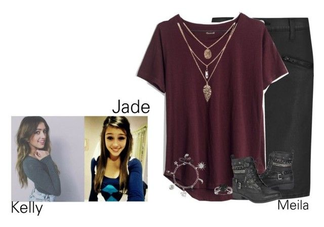"""""""Going with kelly and jade to go get ice cream-Meila"""" by sisters-forever-poly-family ❤ liked on Polyvore featuring Current/Elliott, Madewell, claire's and Ice"""