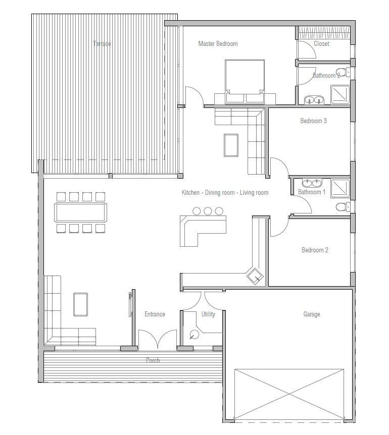 House Plans Home Plans House Plans House Designs Plan Petite Maison Plan Maison Contemporaine Plan Maison Etage House floor plan unit of measurement