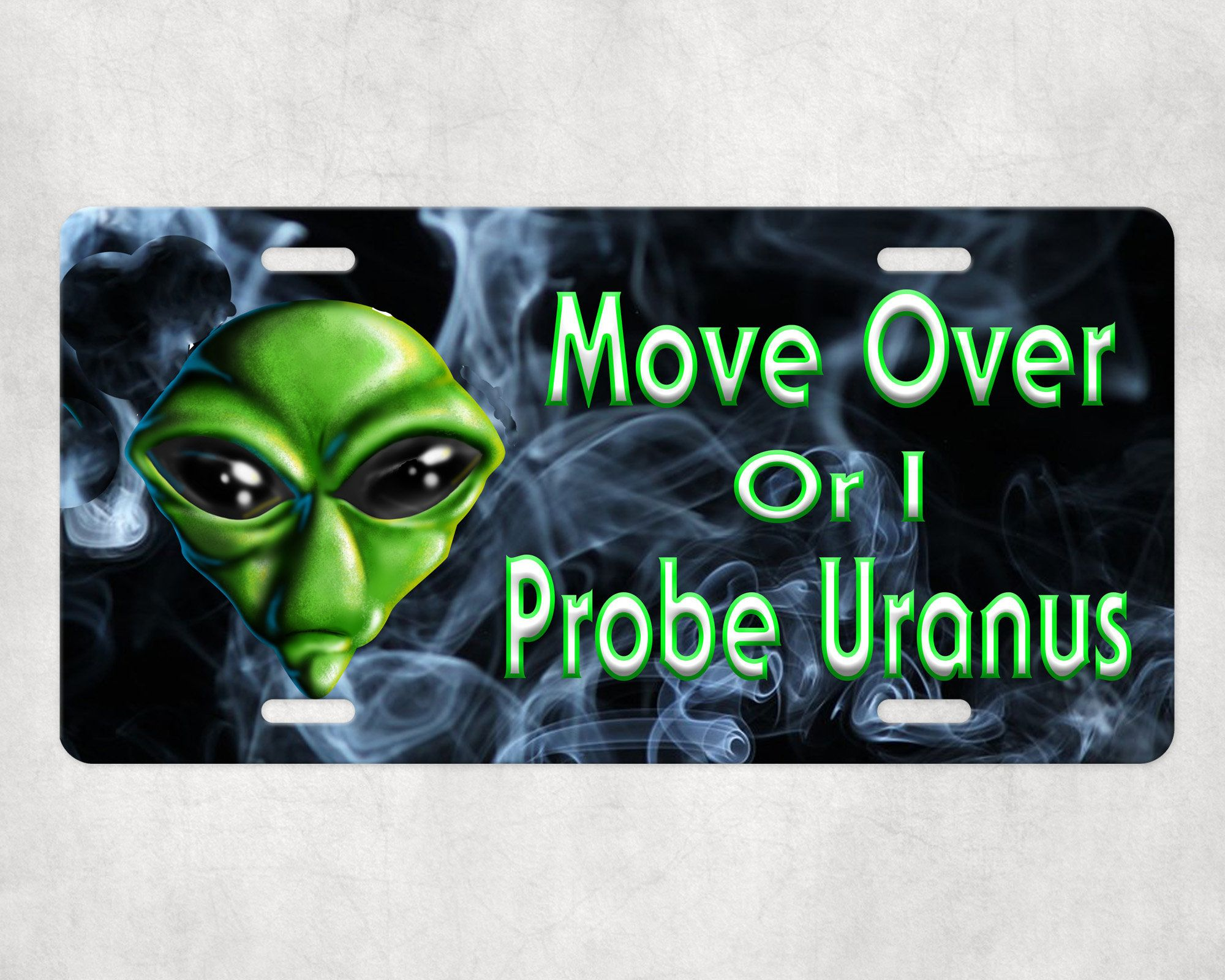 Move Over Vanity Metal Novelty License Plate