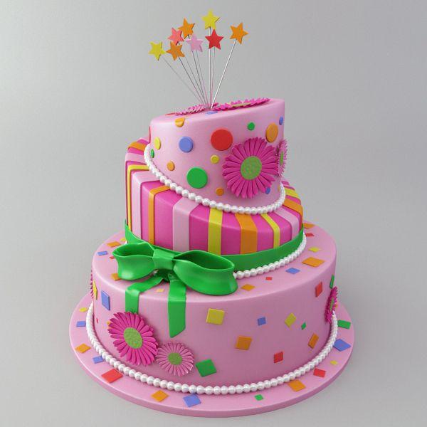 Celebration Cake 3D Model Buy Celebration Cake 3D Model
