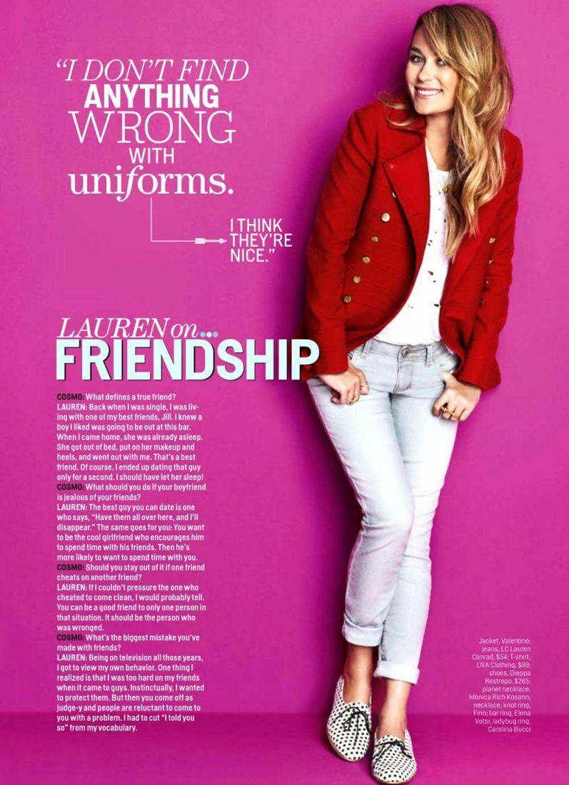 Lauren Katherine Conrad for Cosmopolitan, January 2014 | Casual ...