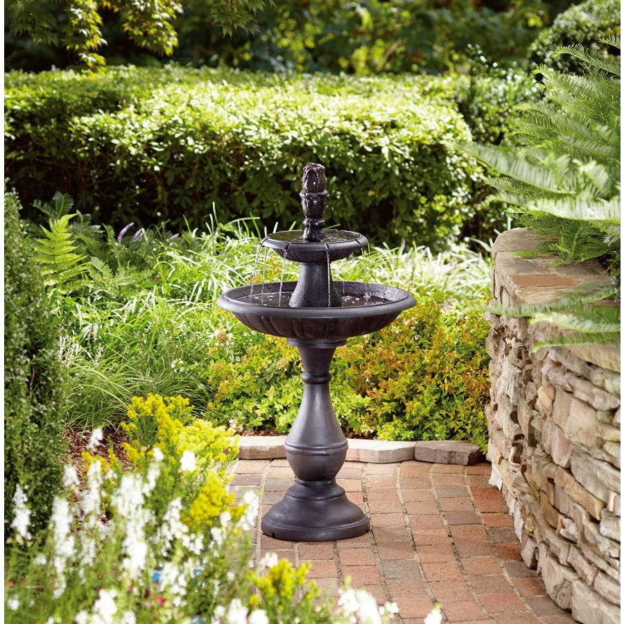 Shop Garden Treasures 37 79 In Metal Tiered Fountain At 400 x 300