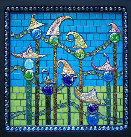 Cmade With Handmade Polymer Clay Tiles Large And Small Gl Gems Vangogh Vitreous Glitter Totally Cool Square Millefiore