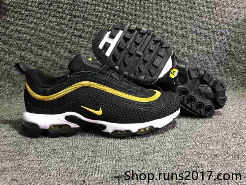 Nike Air Max 97 Black White Amarillo ICM TREND SHOP