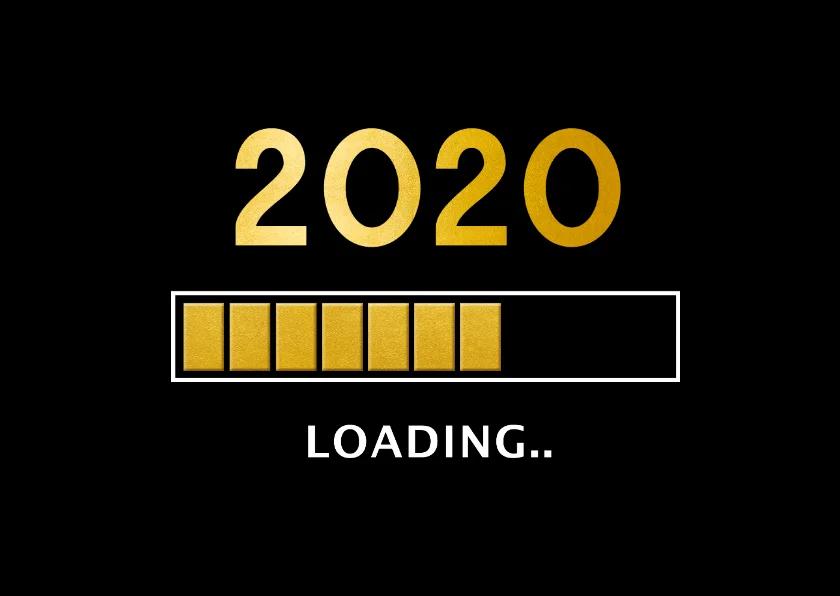 Grappige zakelijke nieuwjaarskaart 2020 loading | Kaartje2go