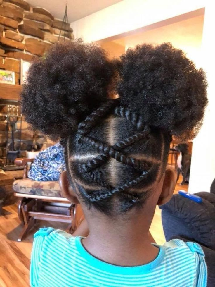 30+ Cozy Natural Black Hairstyle Ideas For Curly Little Girls - Hair Styles Blog 2019
