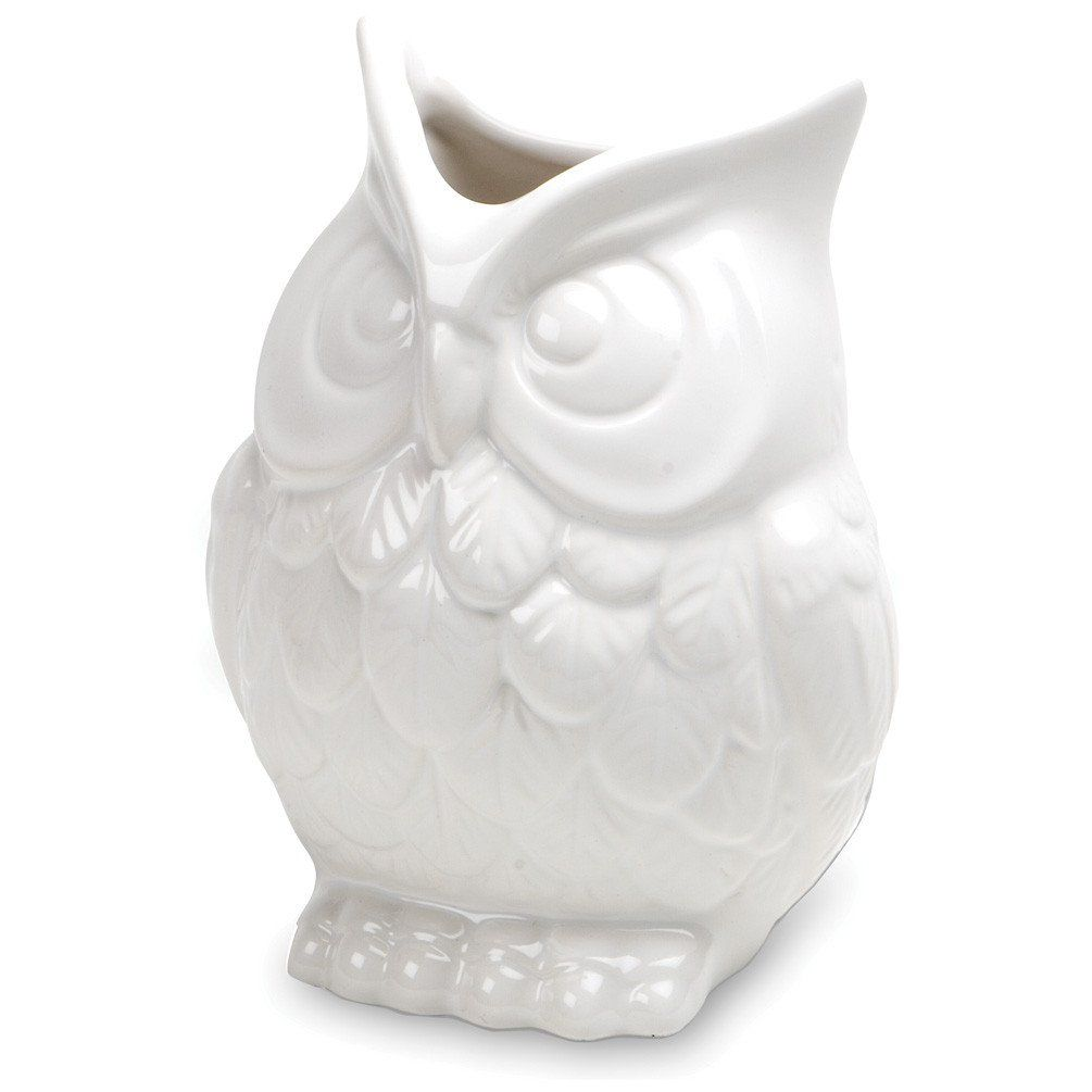 Squat owl vase white ceramics kitchen cabinet inspiration and squat owl vase reviewsmspy