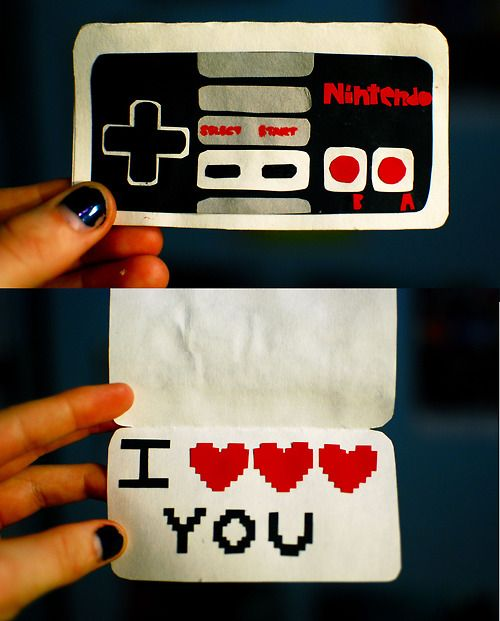 Nintendo Controller Valentines! Could update this to maybe a DS and think of a witty saying. No problem right??