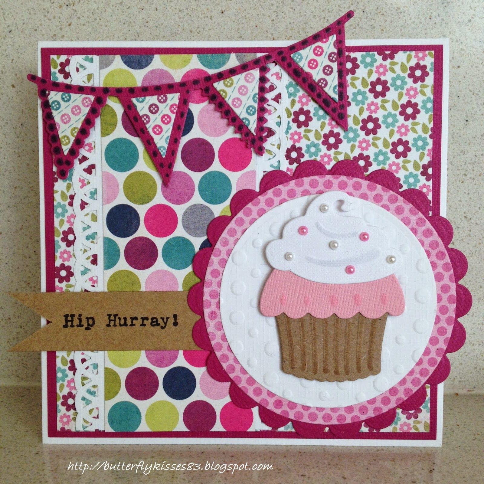 Card Cupcake Muffin Cake Banner Marianne Design Die Set