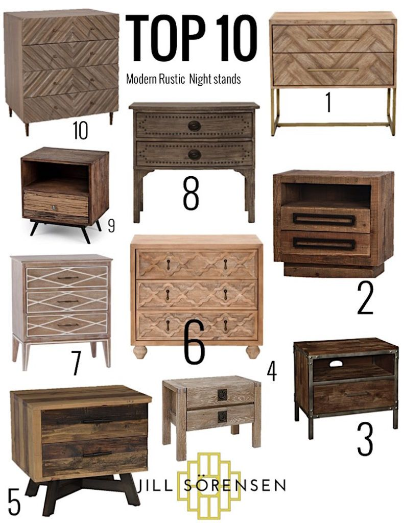 My Top 10 Modern Rustic Nightstands Rustic Nightstand Modern