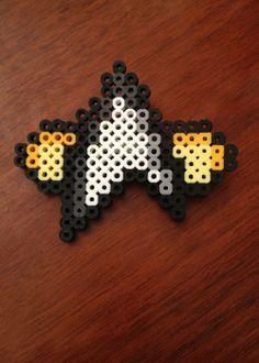 Star Trek Next Generation combadge small - perler beads